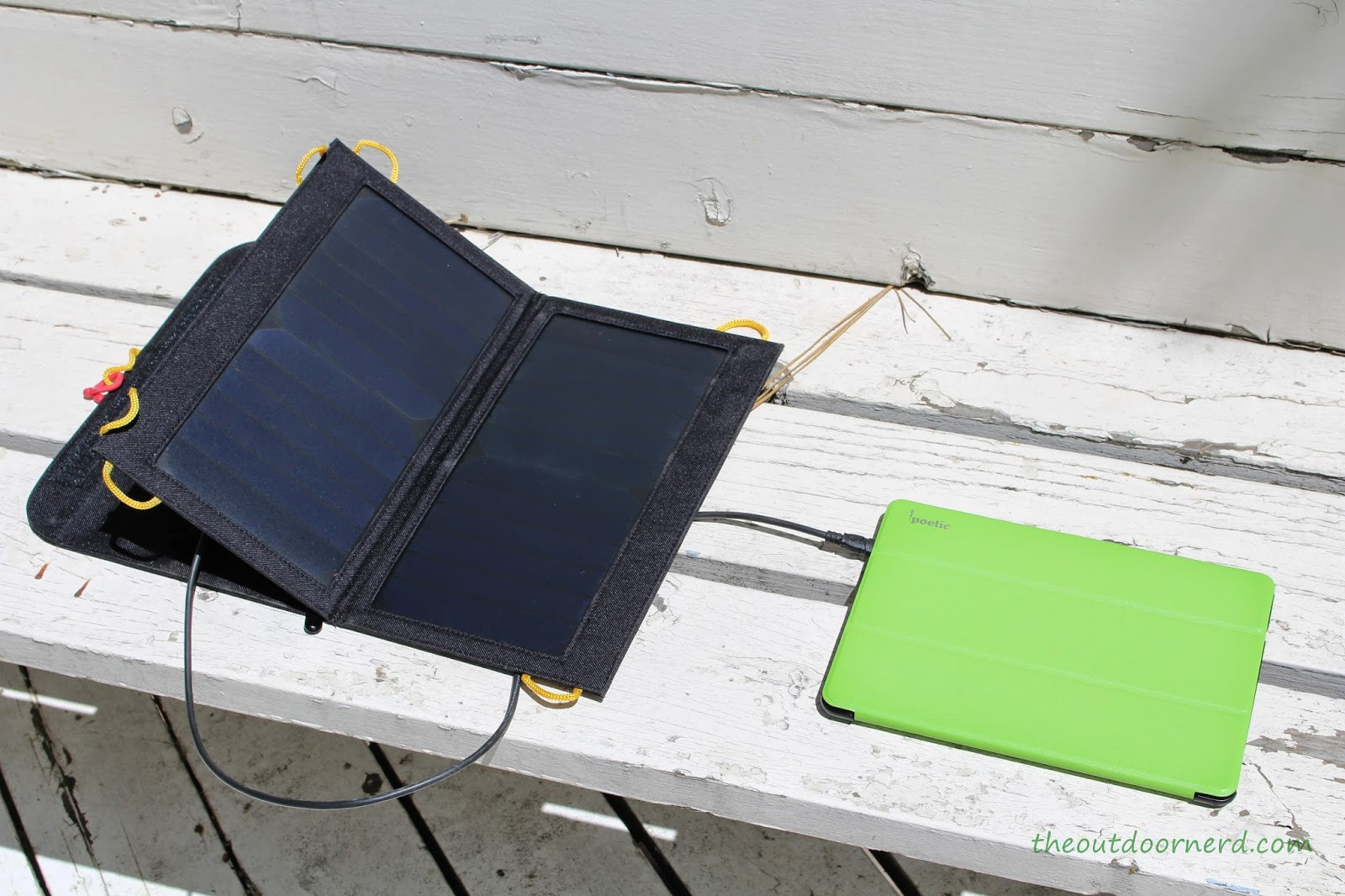 Levin Sol-Wing 13W Solar USB Charger: Test 2: Kindle Fire HDX Tablet