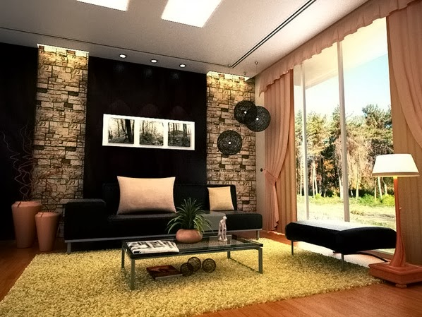 id es de salon contemporain d coration salon d cor de salon. Black Bedroom Furniture Sets. Home Design Ideas