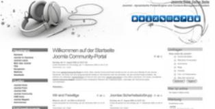 White Headphones Joomla 1.6 & 1.5 Template