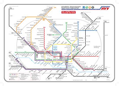 Hamburgo Mapa de Metro