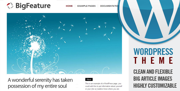 BigFeature Wordpress Theme Free Download by ThemeForest.