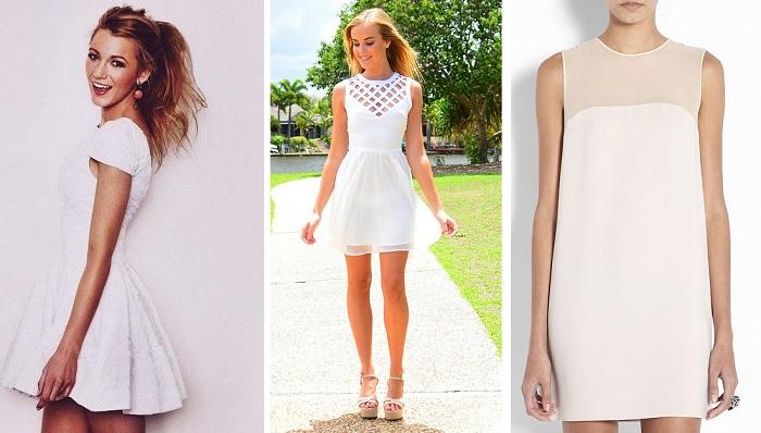 vestidos sueltos blancos