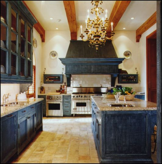 Cabinets for kitchen blue kitchen cabinets for Dark blue kitchen paint