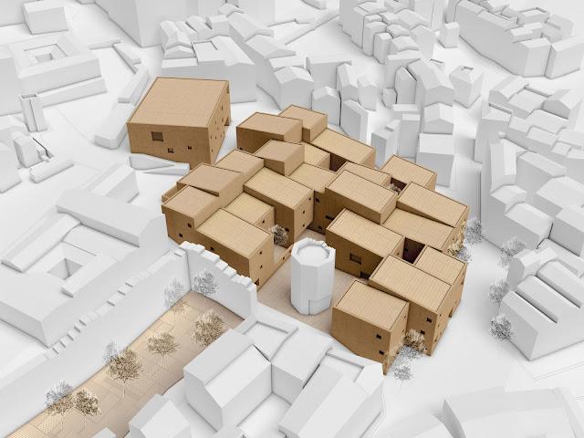 RENDERS 3D PFC - Entorno de Cáceres 3d para el PFC ETSAM de Adriana Quesada Sánchez - ETSAM UEM UCJC ESAYT USPCEU USP CEU IE UAX UAH UPM ETSA