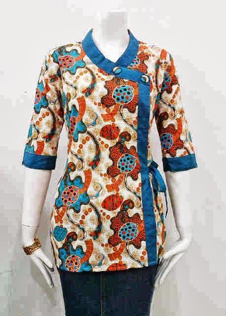 untuk itu seperti gambar diatas adalah model batik baju batik wanita ...