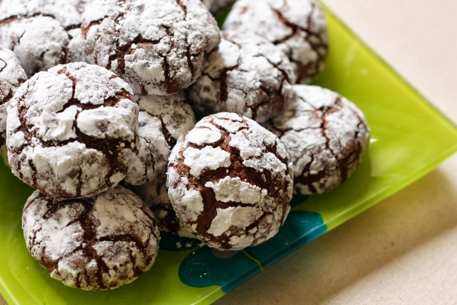 Les Petits Plats De Rose Crinkles Biscuits Au Chocolat Méga Moelleux