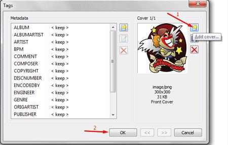 klik icon add cover