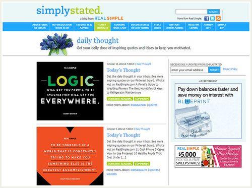 8 Website Terkenal yang Bisa Membuat Kamu Bahagia: Daily Thought by Real Simple