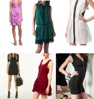 coleccion de vestidos de noche cortos y con cierre delantero