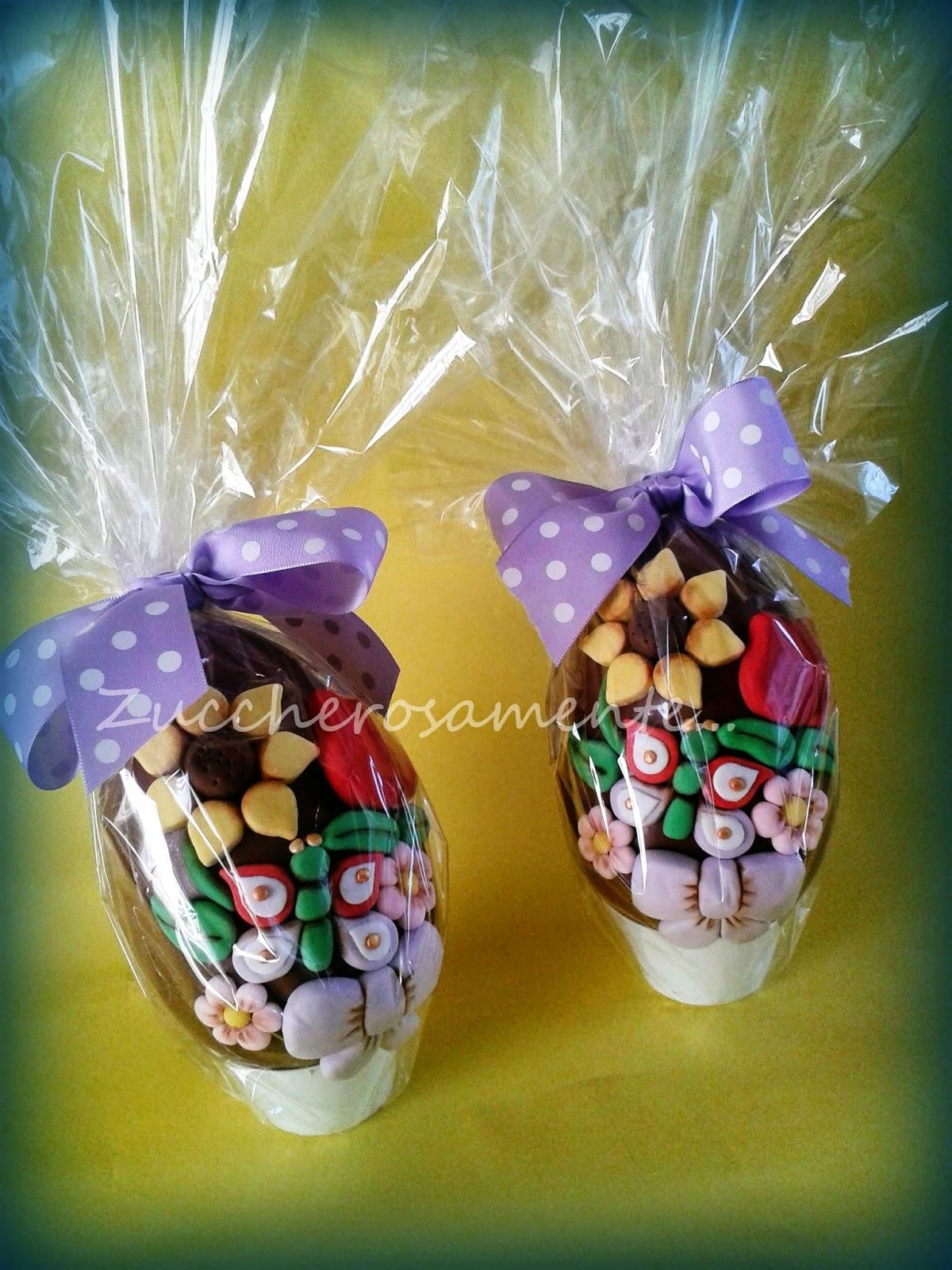 Zuccherosamente uova di pasqua decorate stile thun - Uova di pasqua decorati a mano ...