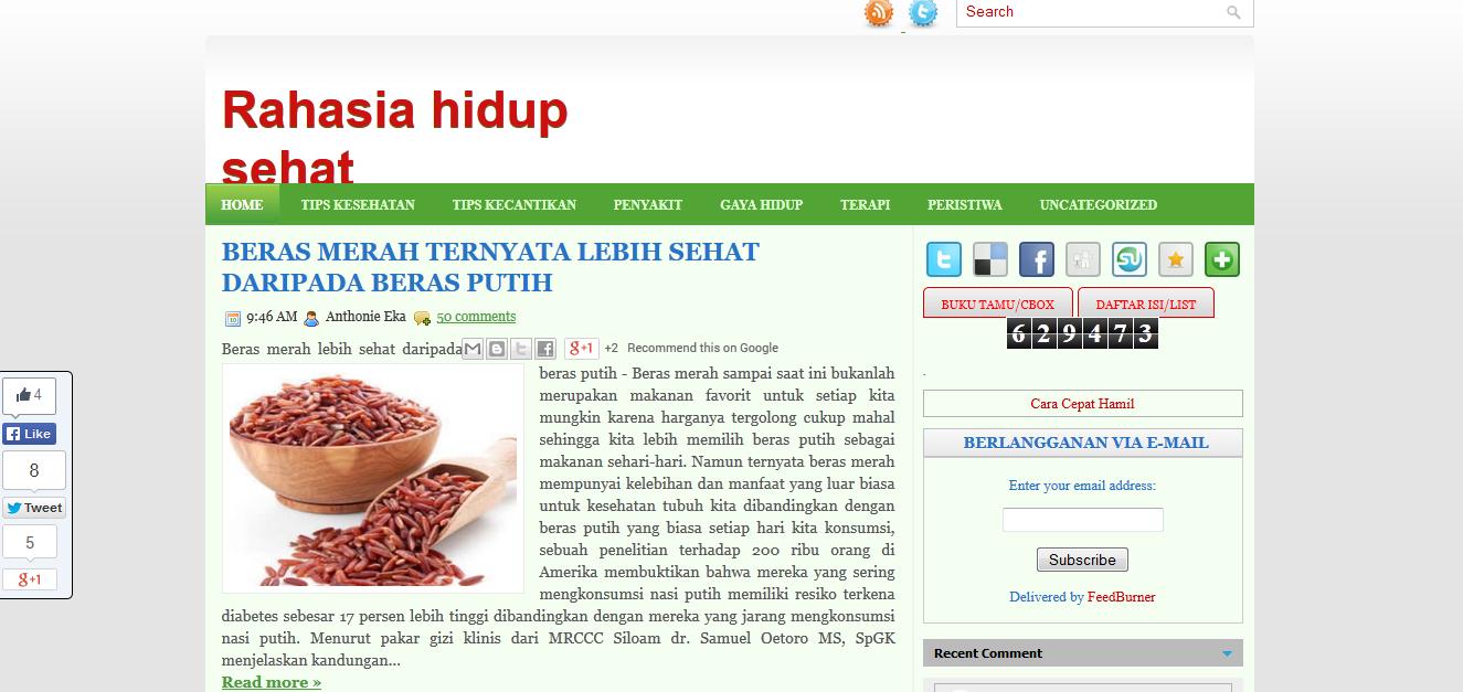 Review Blog sehatalami99.blogspot.com