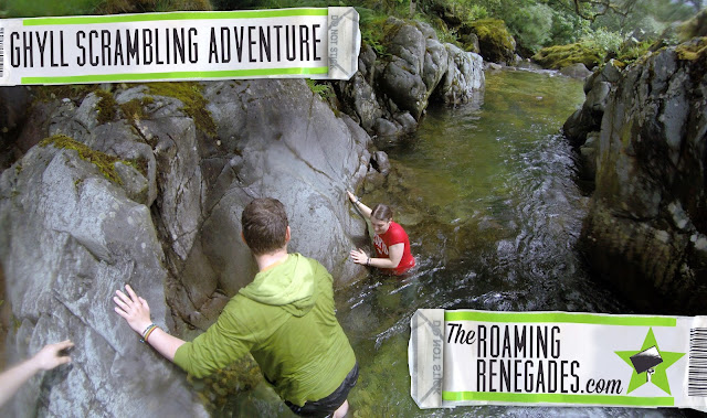ghyll scrambling, canyoning, gorge walking, river, lake, glenridding, beck, waterfall, scrambling, climbing, mountains, Lake District, wild swimming, canyoneering, bouldering, clear water, helvellyn, striding edge