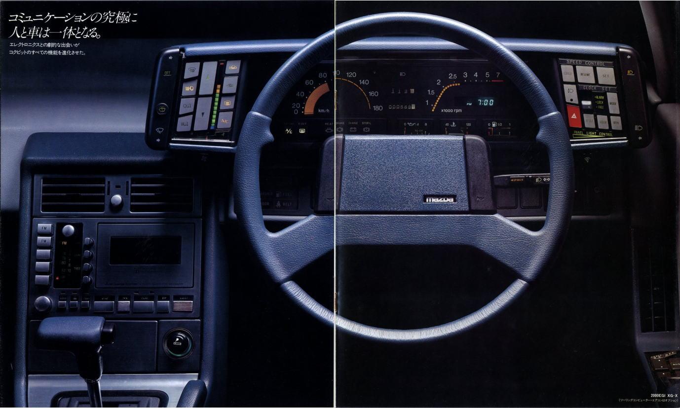 Mazda Cosmo HB, wnętrze, ciekawe, futurystyczne, interior, nowoczesne, samochód z duszą, kultowy, youngtimer