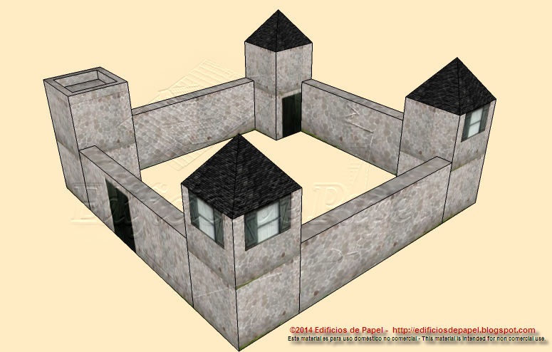Paper model 1522: Fortifications: TOWERS 2