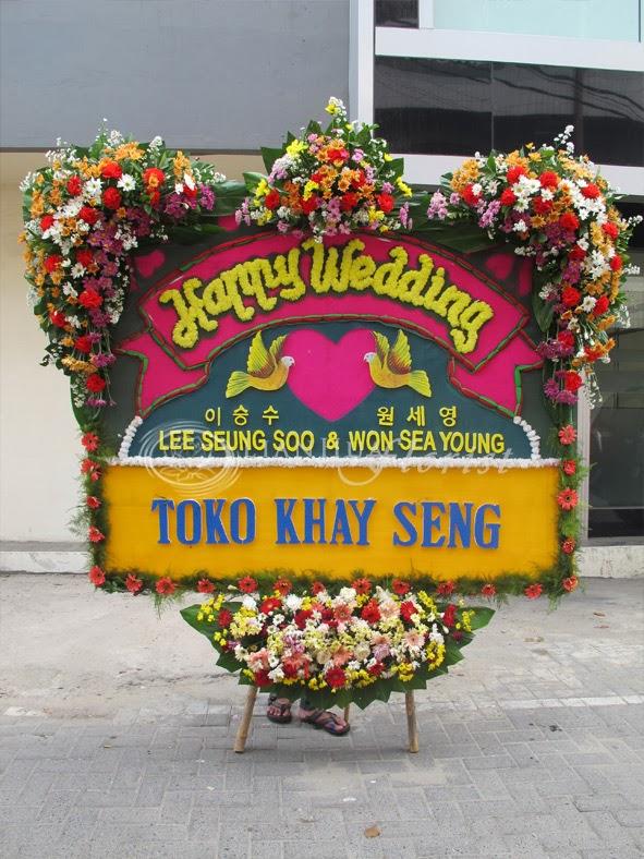 Karangan bunga pernikahan murah