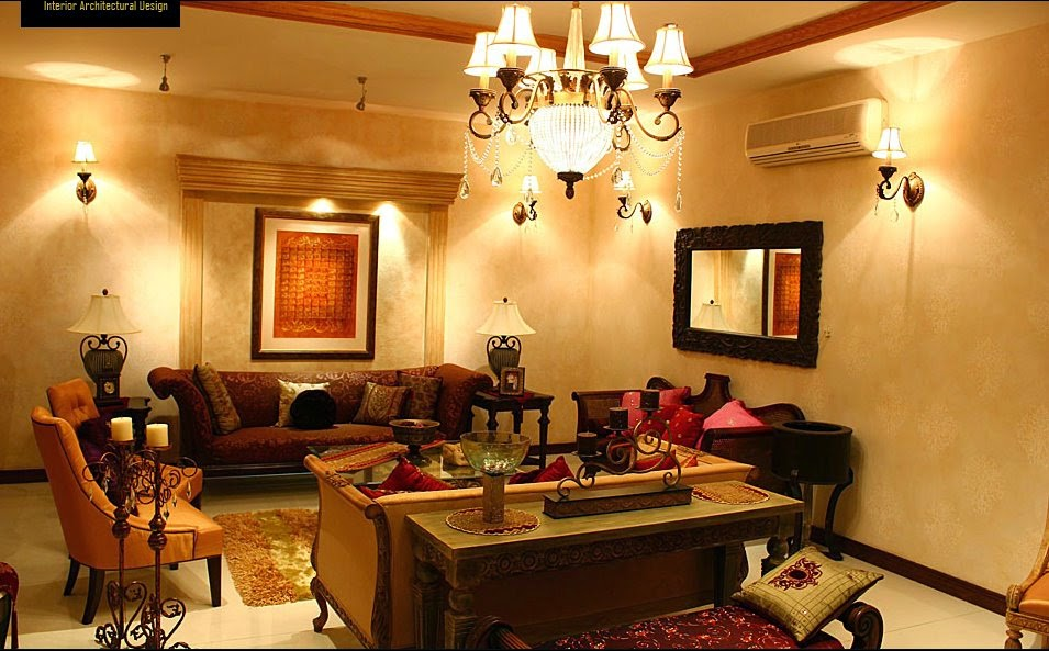 T v lounge living room home decor interior design ideas for Room design in pakistan