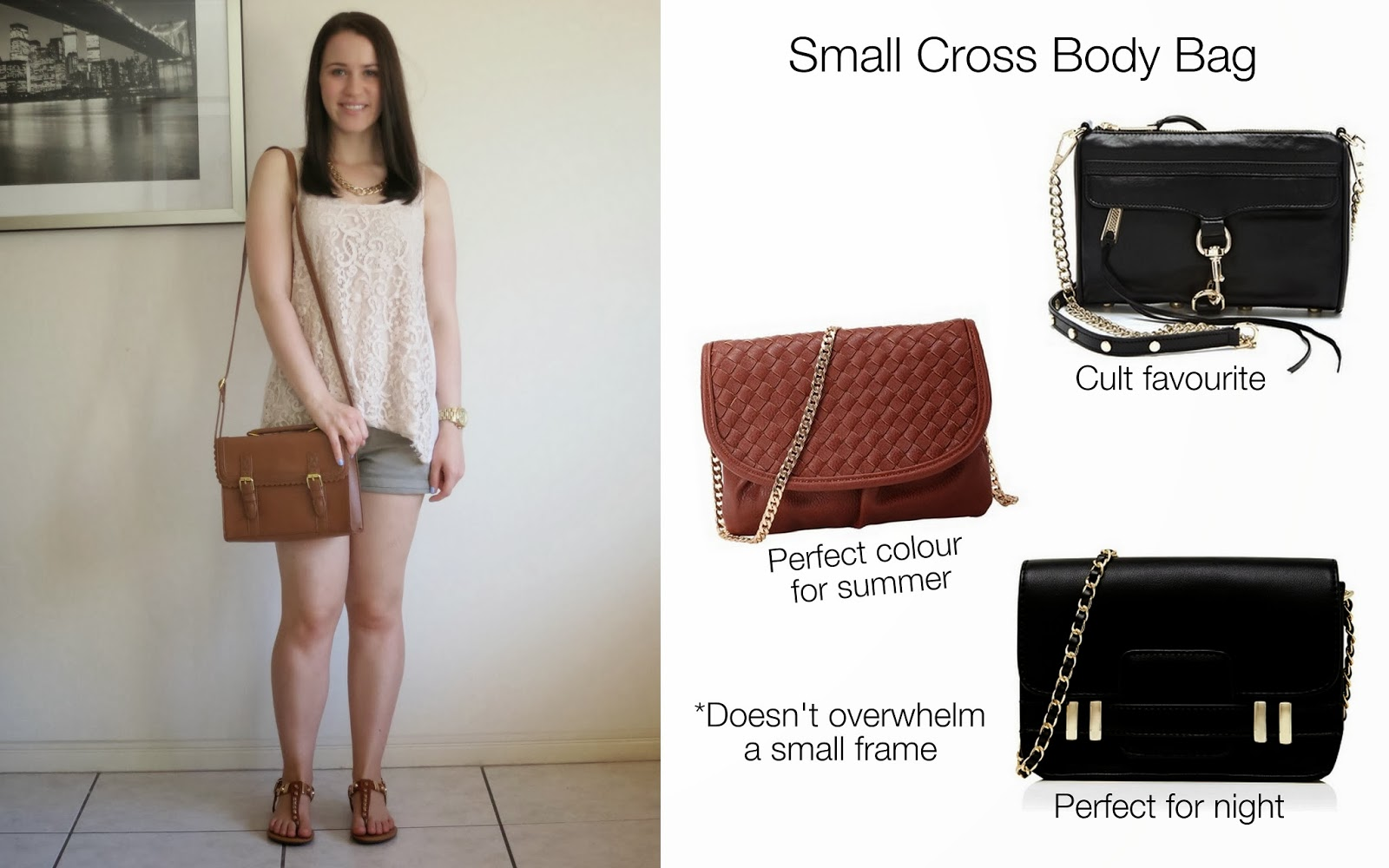 petite outfit, college outfit, university outfit, cross body bags, best petite clothing items