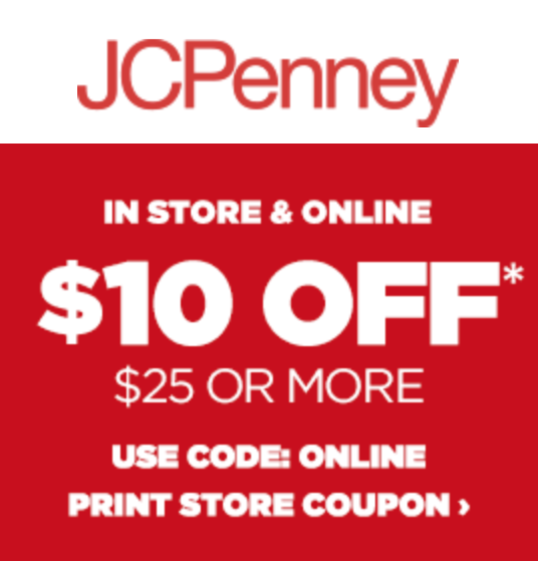 Coupon codes for jcpenney
