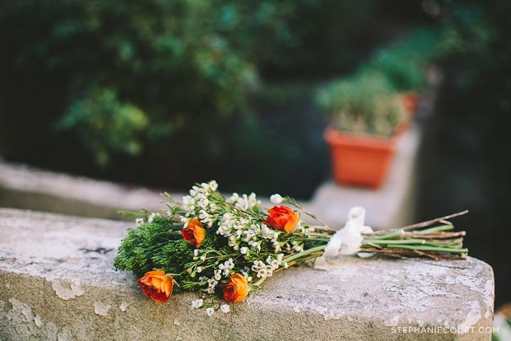 """orange and white bridesmaids bouquet"""