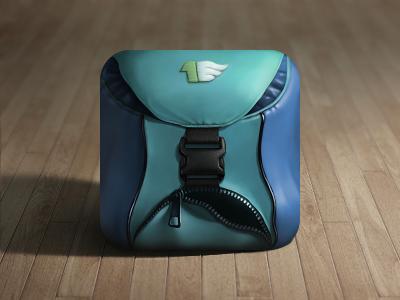Skelet Art, backpack icon