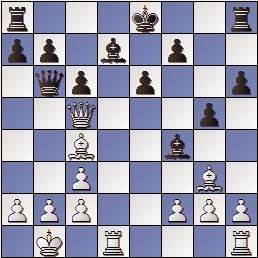 Partida de ajedrez Keres - Schmid, Zúrich 1961, posición después de 18…Db6