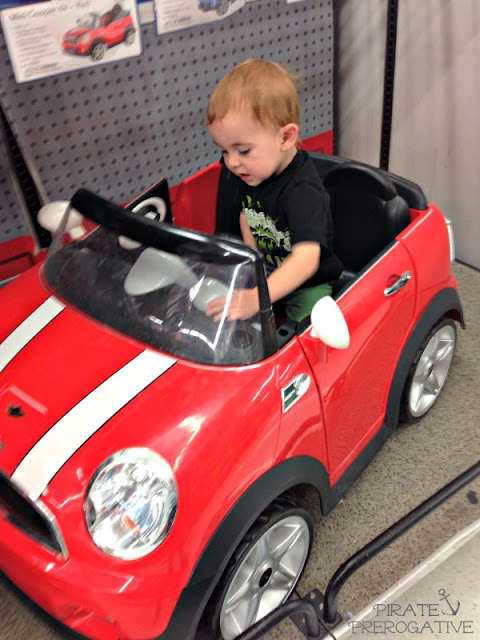 Going car shopping with my two year old