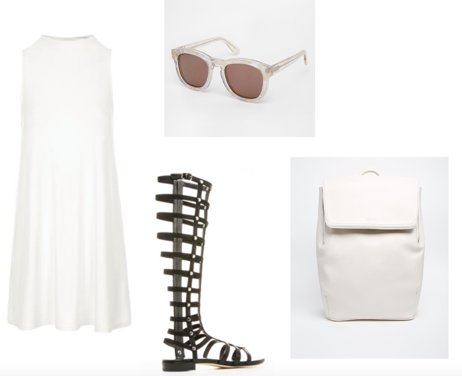 minimal inspiration gladiator sandals pack backs