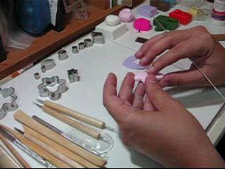 Polymer Clay Flowers Making
