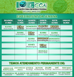 AGENDA ECON DE 1º Á 06 DE MAIO