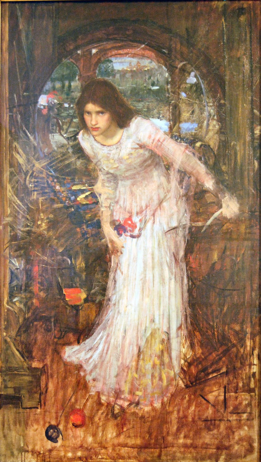 "an analysis of the lady of shalott John william waterhouse, ""the lady of shalott"" (1888) la dama di shalott è la protagonista del poema romantico omonimo del poeta inglese lord alfred tennyson."