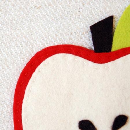 Muyvariado.com: posavasos de fieltro, diseño manzana, manualidades ...