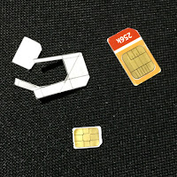 cutting out the hole for the nano-SIM