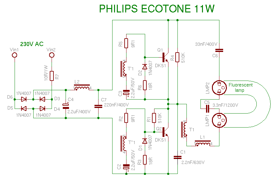 ELECTRONICS TRICKS AND TIPS  philips 11watt    CFL    BULB REPAIRING TIPS