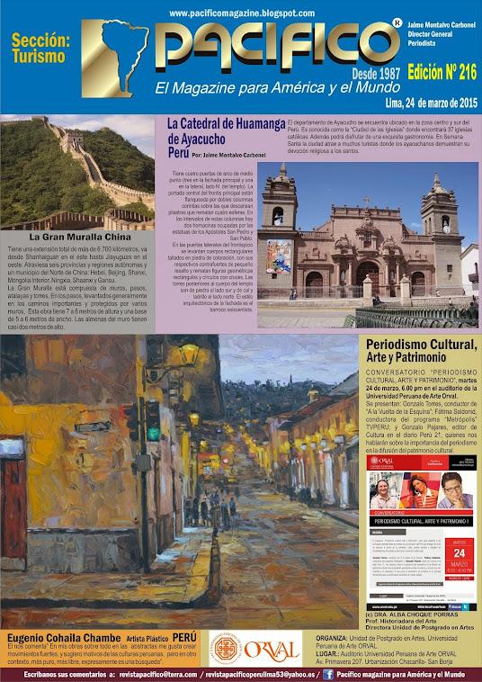 Revista Pacífico Nº 216 Turismo