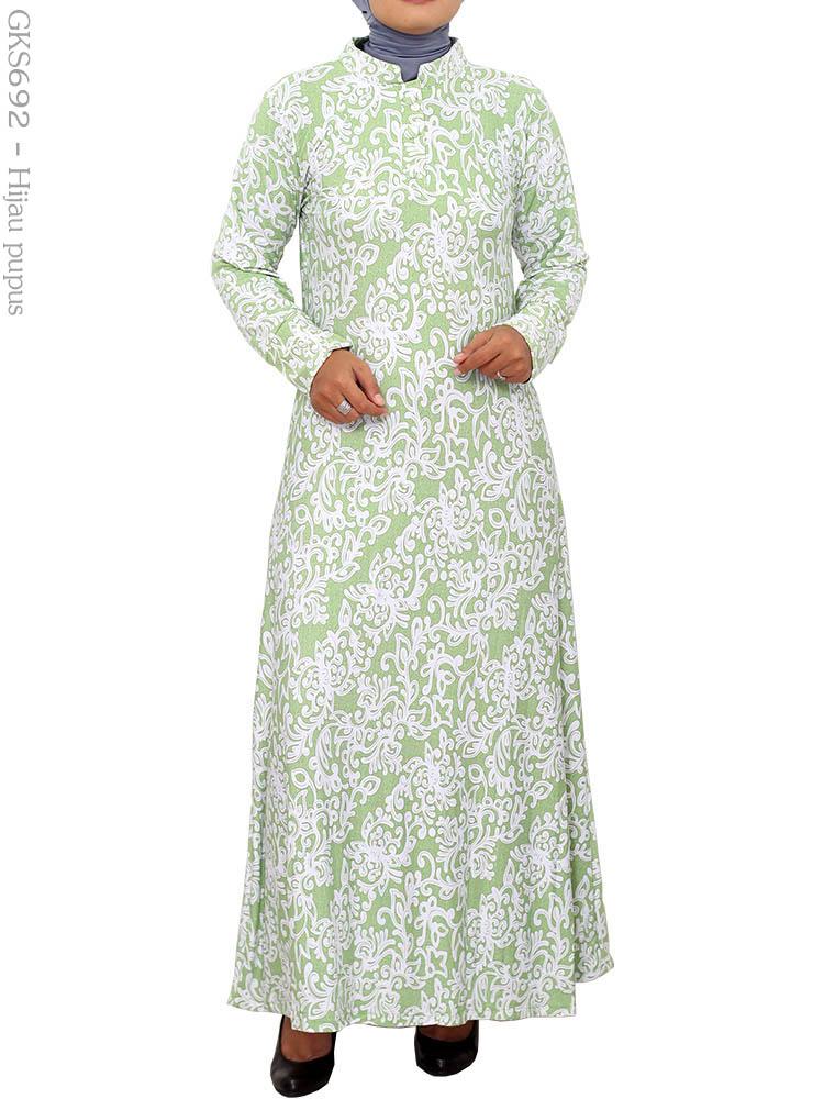 Gamis cantik muslimah gks692 busana muslim murah terbaru Suplier baju gamis remaja harga pabrik bandung