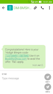bookmyshow winpin 50rs code