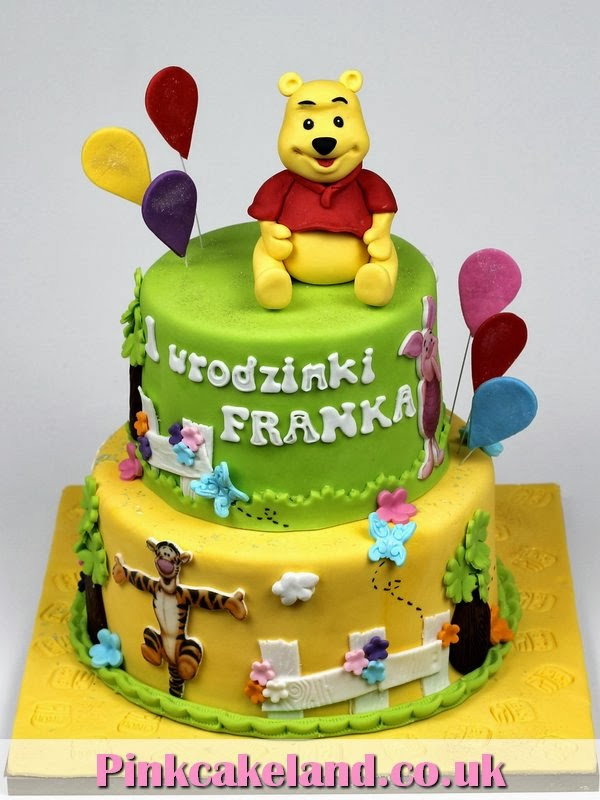 London Patisserie Winnie the Pooh 1st Birthday Cake London