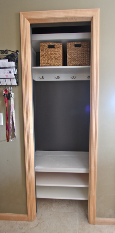 Entry Foyer Closet : Entry closet remodel through the front door