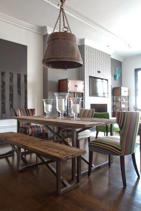 Comedores estilo industrial colores en casa for Muebles para comedores industriales