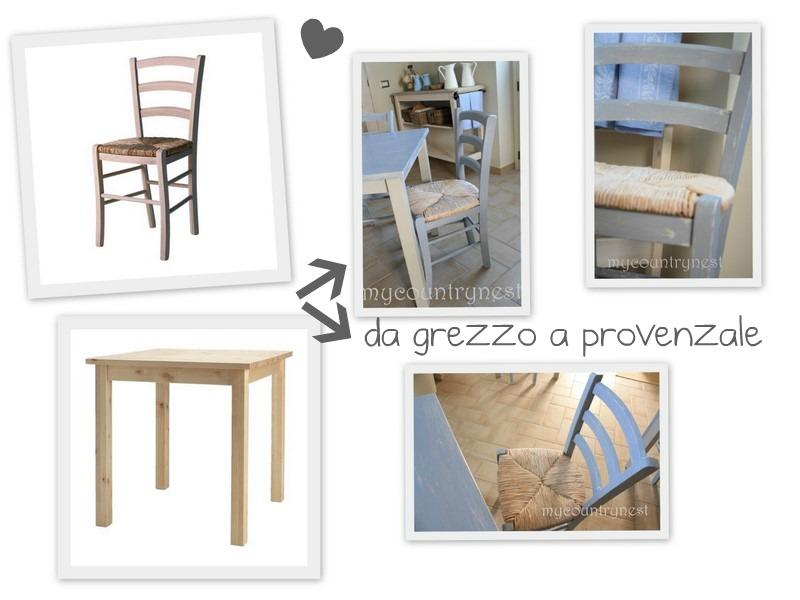 My country nest da grezzo ikea a provenzale chic - Ikea sedie cucina ...
