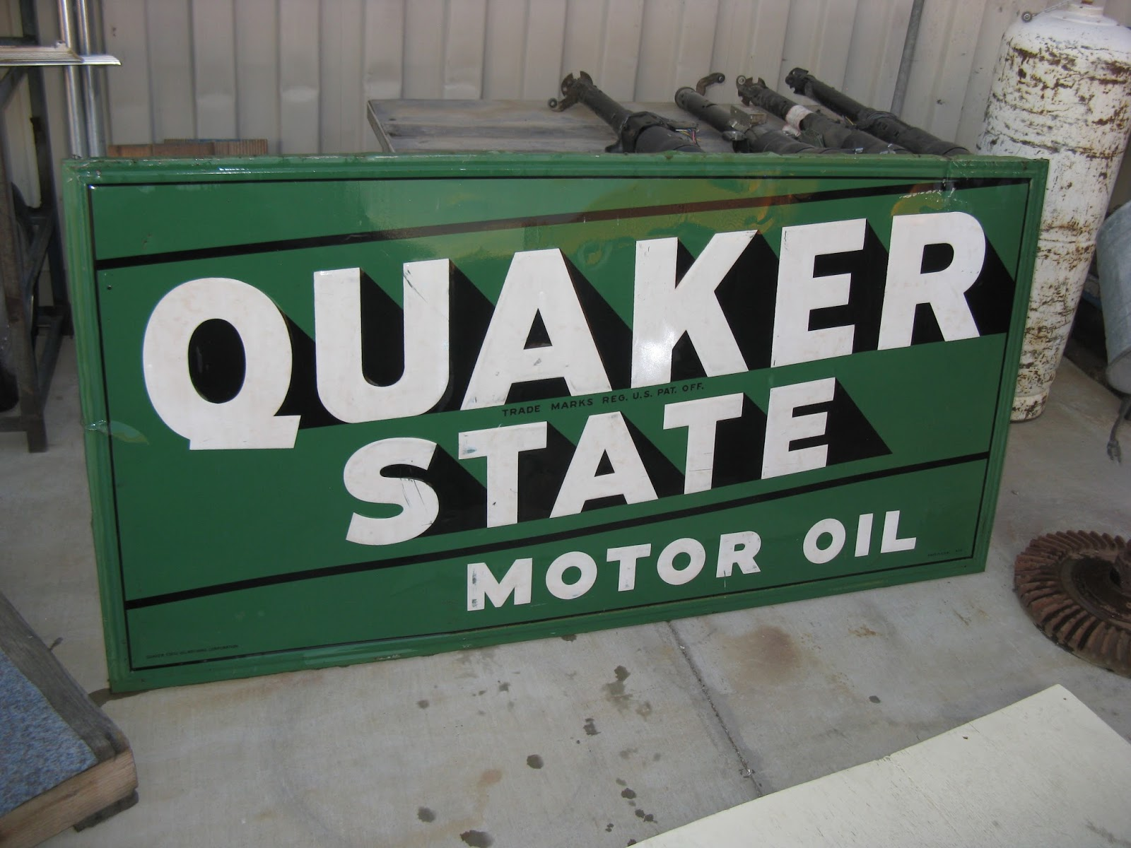 Two quaker state motor oil porcelain signs a unique for Quaker state motor oil history