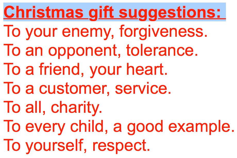 Pip Wilson bhp: Christmas Gift Suggestions