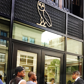 Rap Star Drake's Streetwear brand OVO October's Very Own store opening.