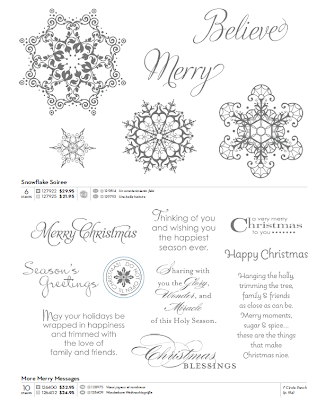 Stampin'UP! Christmas Stamp Sets: Snowflake Soiree and More Merry Messages