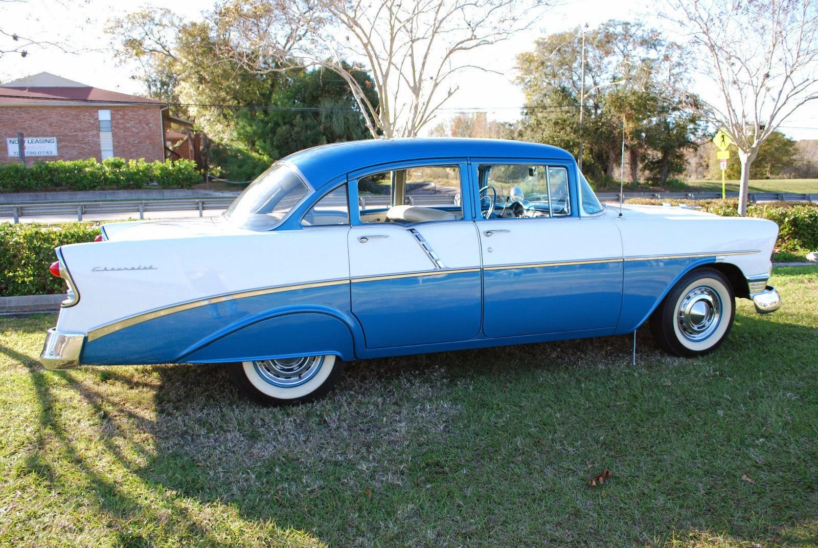 All american classic cars 1956 chevrolet two ten 4 door sedan for 1956 chevy 4 door sedan