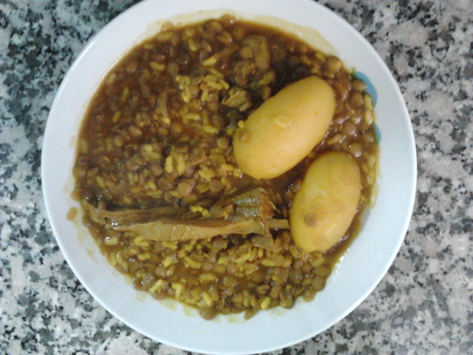 Conchi en su cocina lentejas con costillas de cordero y patatas - Lentejas con costillas y patatas ...