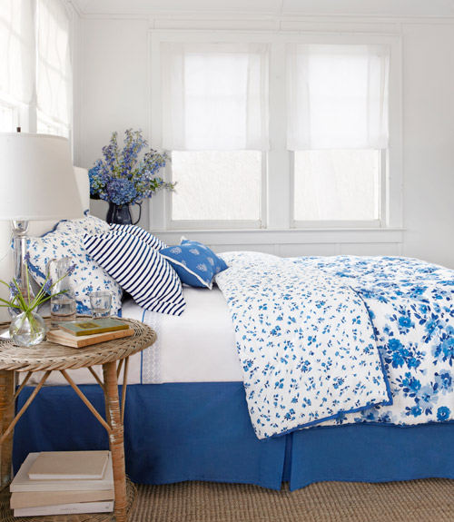 Belle On Heels Blue And White Bedroom