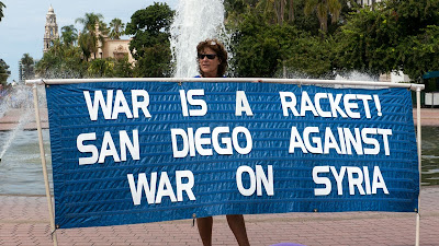 WAR IS A RACKET! SAN DIEGO AGAINST WAR ON SYRIA