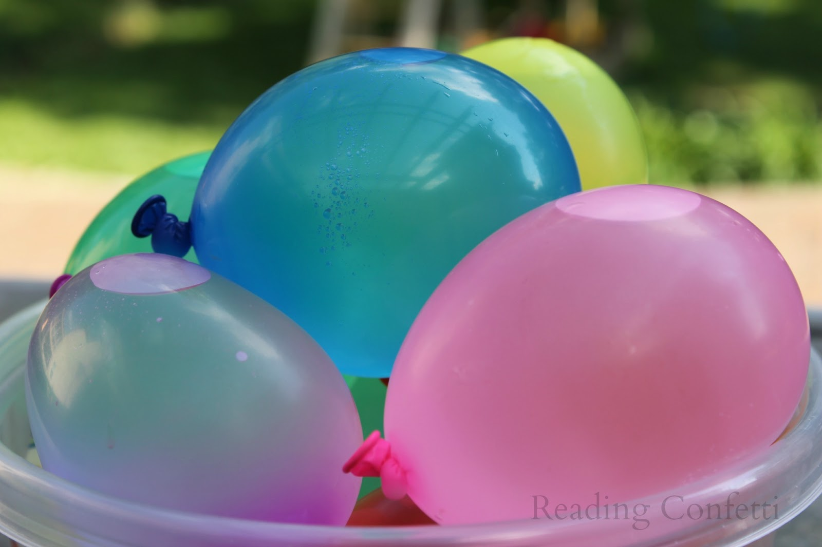 Reading confetti water balloon letter learning for What to do with balloons