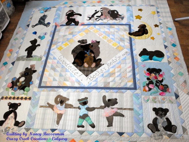 Applique Teddy Bear Quilt by Shelley